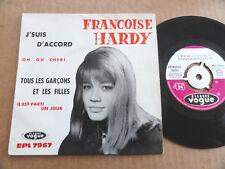 """DISQUE 45T DE FRANCOISE HARDY  """" OH OH CHERI """""""