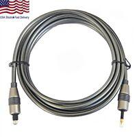 6 Feet Toslink to Digital Optical Audio Cable SPDIF Optic Fiber Mini Plug 3.5mm