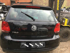 VW POLO 1.2 2010 - 2014 REAR BUMPER IN BLACK WITH PARKING SENSORS MINT LC9X
