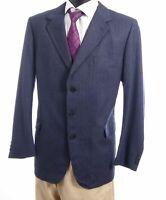 Burberrys Sakko Jacket Ascona Gr.28 blau Nadelstreifen Einreiher 3-Knopf -S102