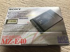 Sony Mz-E40 MiniDisc New In Box. Mint.