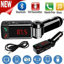 Charger USB Transmitter Bluetooth Handsfree Phone Car MP3 for IPhone Samsung
