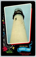 Greetings from Fenwick Lighthouse on Fenwick Island, Delaware Postcard
