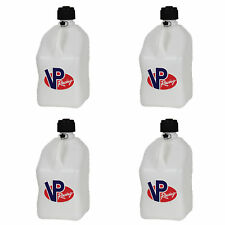 VP Racing 5 Gallon Motorsport Racing Fuel Utility Jug Gas Can, White (4 Pack)