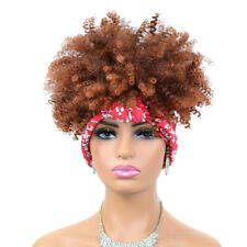 Afro Kinky Curly Wrap Wigs for Black Women Synthetic Curly Bounce Headband Wigs