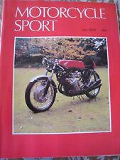 MOTORCYCLE SPORT MAGAZINE JUL 1978 PC VINCENT SUZUKI GS1000 BMW R100RS REYNOLDS