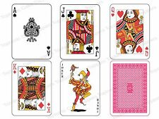 "Any 6 Full Size 3.5x2.5"" Playing Cards Edible Icing Birthday Party Cake Toppers"