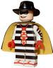 **NEW** LEGO Custom Printed - HAMBURGLER - McDonald's Restaurant Minifigure