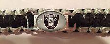 Oakland Raiders -NFL Football~Survival Paracord Bracelet! Size: 7  Large