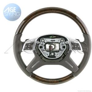 Mercedes-Benz ML550 G63 GL350 GL450 GL500 GL550 GL63 Walnut MOCHA Steering Wheel