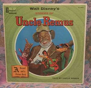 Walt Disney's Stories Of Uncle Remus LP w/ Book 1967 Gatefold Mono ST 3907 Clean