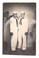 Buff Muscular Navy Men Vintage Arcade Photo Booth Gay Interest Photograph