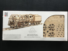 UGEARS Steam Locomotive with Tender  - Mechanical 3D Wooden Model - UTG0011