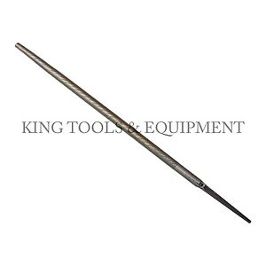 """New KING 10"""" Smooth Cut ROUND FILE, Single Cut, Steel, American Grading"""