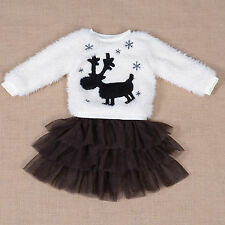 New Fluffy Jumper and Tulle Skirt Set Pink Purple Ivory 12-18 Months to 4-5 Year