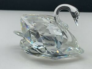 Swarovski Figurine 010005 Large Swan 7,5 Cm. Pot Condition