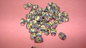 20 Peruvian Ceramic Beads tube 8mm So.western Inca Aztec Aqua purple #54