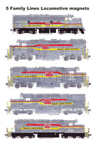 Family Lines Locomotives (SCL, L&N, CRR, A&WP, GA) 5 magnets Andy Fletcher