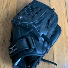 "NEW Mizuno GBP1207 12"" Black Baseball Softball Mitt Glove Professional Model"