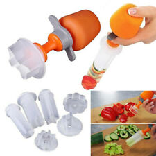 Fruit Vegetable 6 Shape Cutter Mold Slicer Kitchen Peelers Decorator Tool