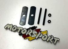 3D Metal White Motorsport Logo Grille  Emblem Clips Badge Univeral for BMW TIR