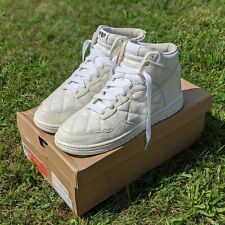 VTG 2008 NIKE SB DUNK HIGH SUPREME Sz 13 OLYMPIC QUILTED PATENT WHITE 321762-111