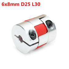 6mm x 8mm Aluminum Flexible Spider Shaft Coupling CNC Stepper Motor Coupler Conn