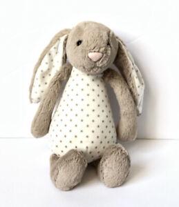 "Jellycat London Rattle Stars Rabbit Bunny Stuffed Animal Plush Toy 11"" HTF"