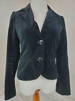 Vintage Old Navy Black Velvet Blazer VTG 90s Steampunk Jacket Size Medium