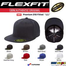 Flexfit 6210 Premium Flat Bill Baseball Hat Yupoong Wool Fitted Cap Flatbill 210