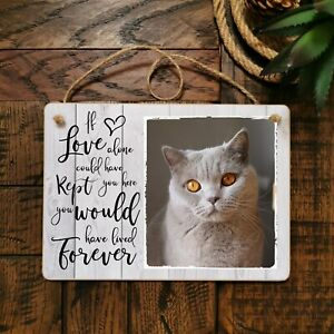 8x6'' Personalised Photo Plaque Pet Loss Cat Memorial Horse Dog Friend Gift