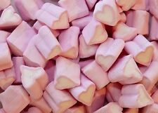 PINK HEART MALLOWS MARSHMALLOWS 1KG RETRO SWEETS VALENTINE'S / WEDDING FAVOURS