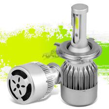 EXTREME DURABILITY 6000K 6K H4 WHITE LED LIGHT LAMP BULBS w/FAN PLUG & PLAY