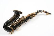 Sassofono Sax Soprano Karl Glaser Germany Nero Laccato Ottone Oro Nuovo Garanzia