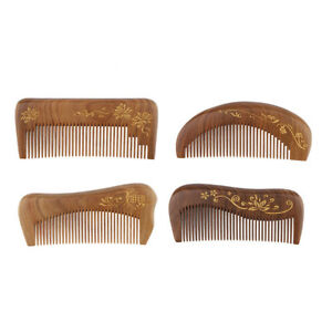 Wide Tooth Green Sandalwood Pocket Comb for Shiny Smooth Hair Scalp Massage