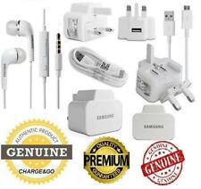 Genuine Samsung Galaxy S7 S5 S6 & Note Wall Charger Micro USB Cable & Headphones