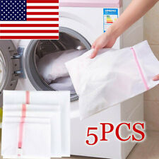 5PCS Zipped Net Washing Bag Laundry Wash Bra Underwear Lingerie Clothes Socks