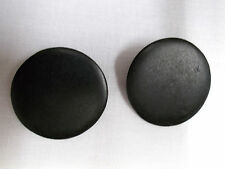NEW RICH BLACK COLOR REAL WOOD ROUND BUTTON SHAPE STUD POST PIERCED EARRINGS