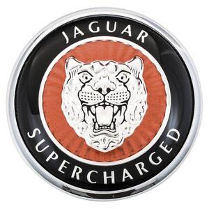 Front panel/bumper badge bonnet Genuine Jaguar XKR X100 1996-06 Supercharg. Logo