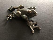 Antique Bronze Frog Figure Possibly Imbabura Treefrog