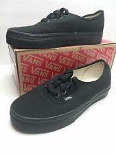 Vans Authentic Black Canvas Lace Low Womens Sz 5.5 Mens Sz 4 Shoes a6