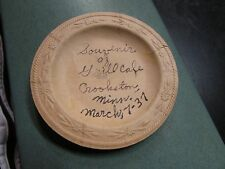 STORE ADVERTISING GRILL CAFE CROOKSTON MINN 1937 PAPER ASHTRAY PLATE RARE