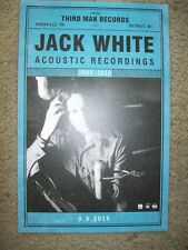 "Jack White        PROMO POSTER      ""Acoustic Recordings""      11"" x 17"""