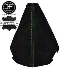 GREEN STITCH MANUAL BLACK SUEDE GEAR GAITER FOR CITROEN C2 2003-2009