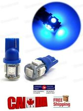 2pcs Blue LED T10 5SMD 5050 SMD 1W Bulbs Side Light 194 168 W5W Wedge