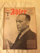 1 Rivista di Guerra Der Adler in versione bilingue Tedesco e Italiano. A scelta