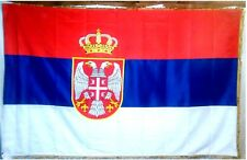 Serbia - New coat of arms - 200 x 100 cm - Serbian tricolor flag - Both sided
