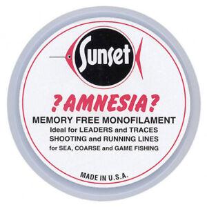 Amnesia Sunset Clear Memory Free Monofilament Fishing Hooklink Line NEW