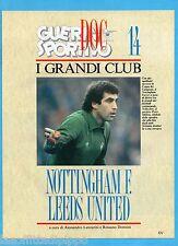 GUERIN SPORTIVO-1991- I GRANDI CLUB-14- NOTTINGHAM F.-LEEDS UTD cover SHILTON