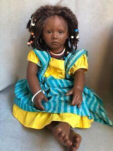 """1989 Ayoka Annette Himstedt Doll 22"""" of loveliness"""